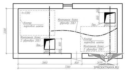 Рисунок 2. План машинного помещения
