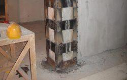 Усиление колонн и столбов стальными обоймами