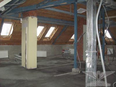 Фото 3. Общий вид помещения на 4-ом этаже в осях Г-А_2-1