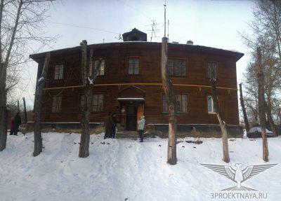 Фото В1. Фасад здания в осях 1-6/А