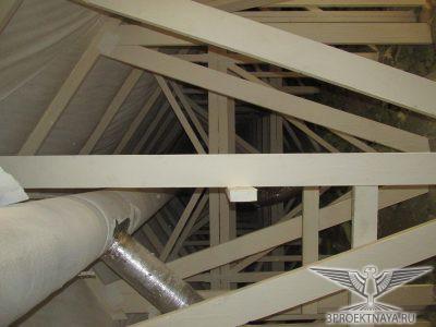 Фото 9. Конструкции деревянных дощатых ферм мансарды в осях 2-1_Г-В