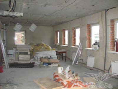 Фото 1. Общий вид помещения на 3-ем этаже в осях Б-А_1-2