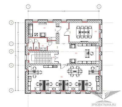Рисунок 1. План 3-го этажа после перепланировки
