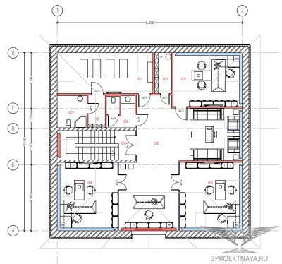 Рисунок 2. План 4-го этажа после перепланировки