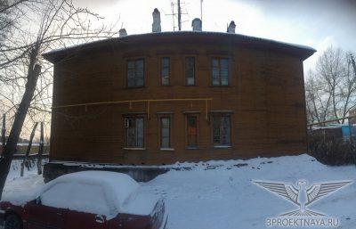 Фото В2. Фасад здания в осях 6/А-В