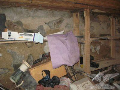 Фото В6. Разрушение фундаментов (стен техподполья)